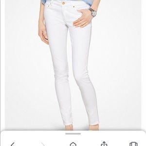 Michael Kors Izzy Skinny White Jeans 6